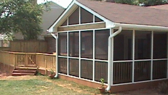 Composite Deck and Screen Porch